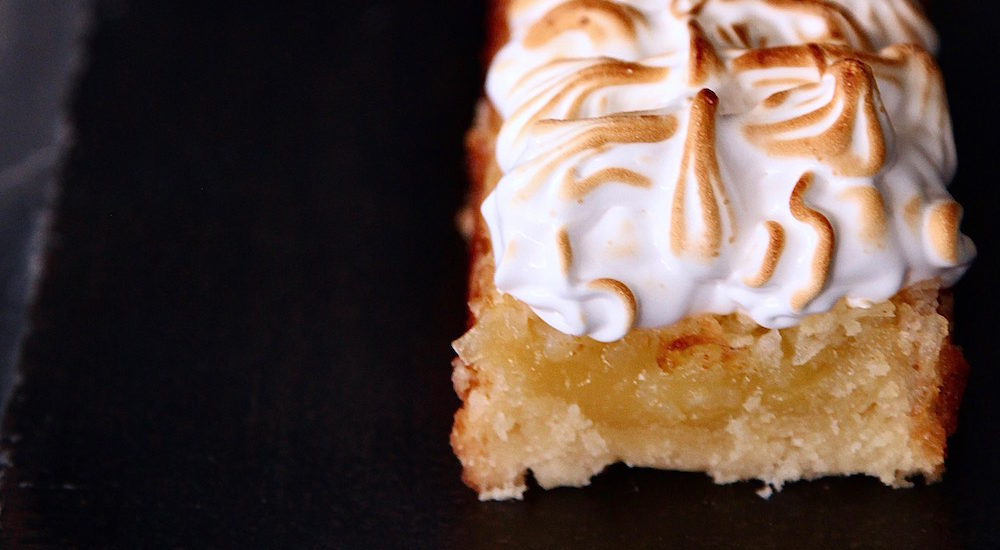 Lemon Coconut Meringue Bars