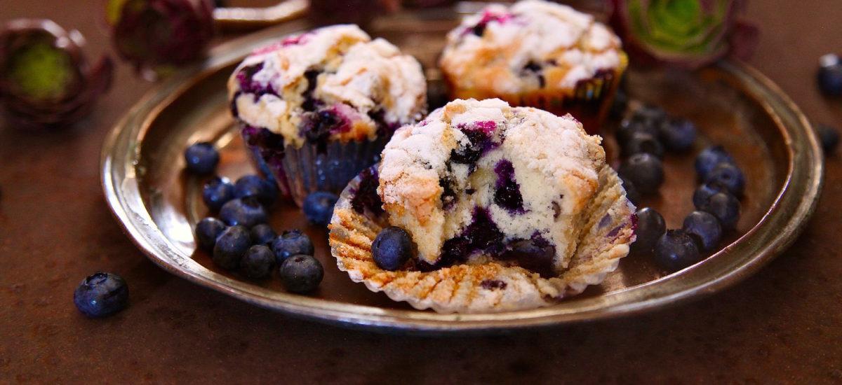 Sugar Top Blueberry Muffins