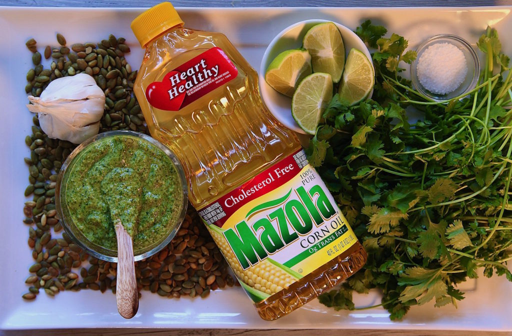 Cilantro-Pumpkin-Seed-Lime-Mazola-Dressing