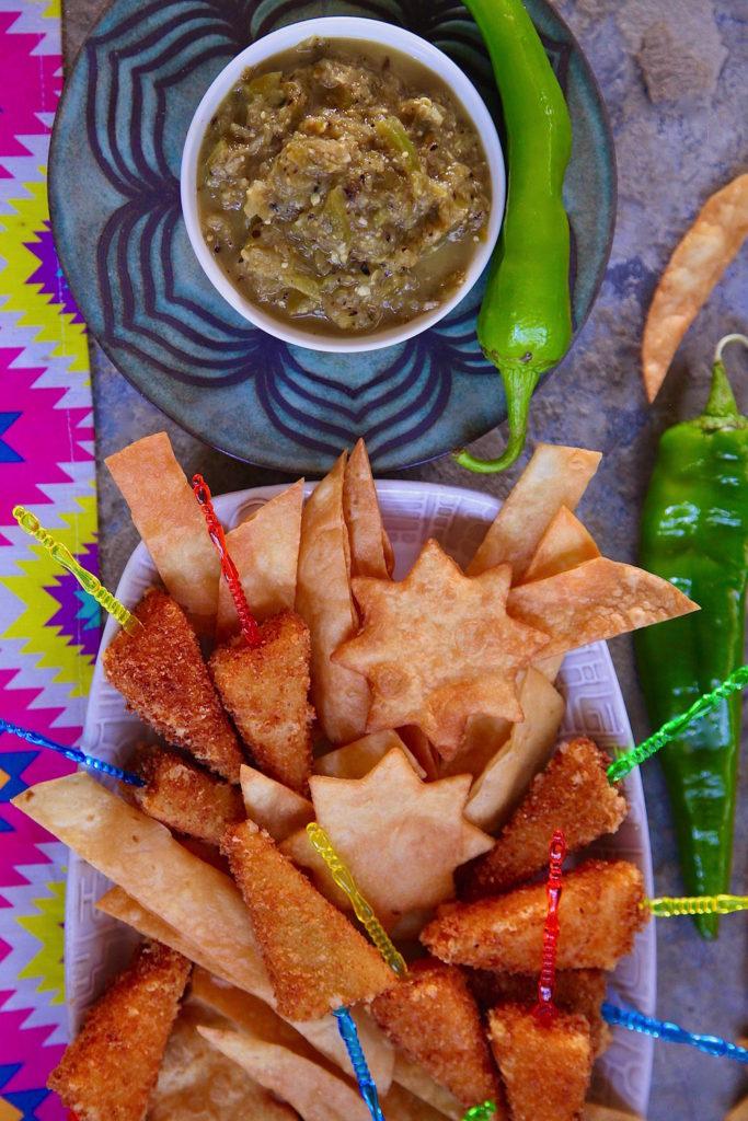 Salsa-Fried-Cheese-Flour-Tortilla-Dippers