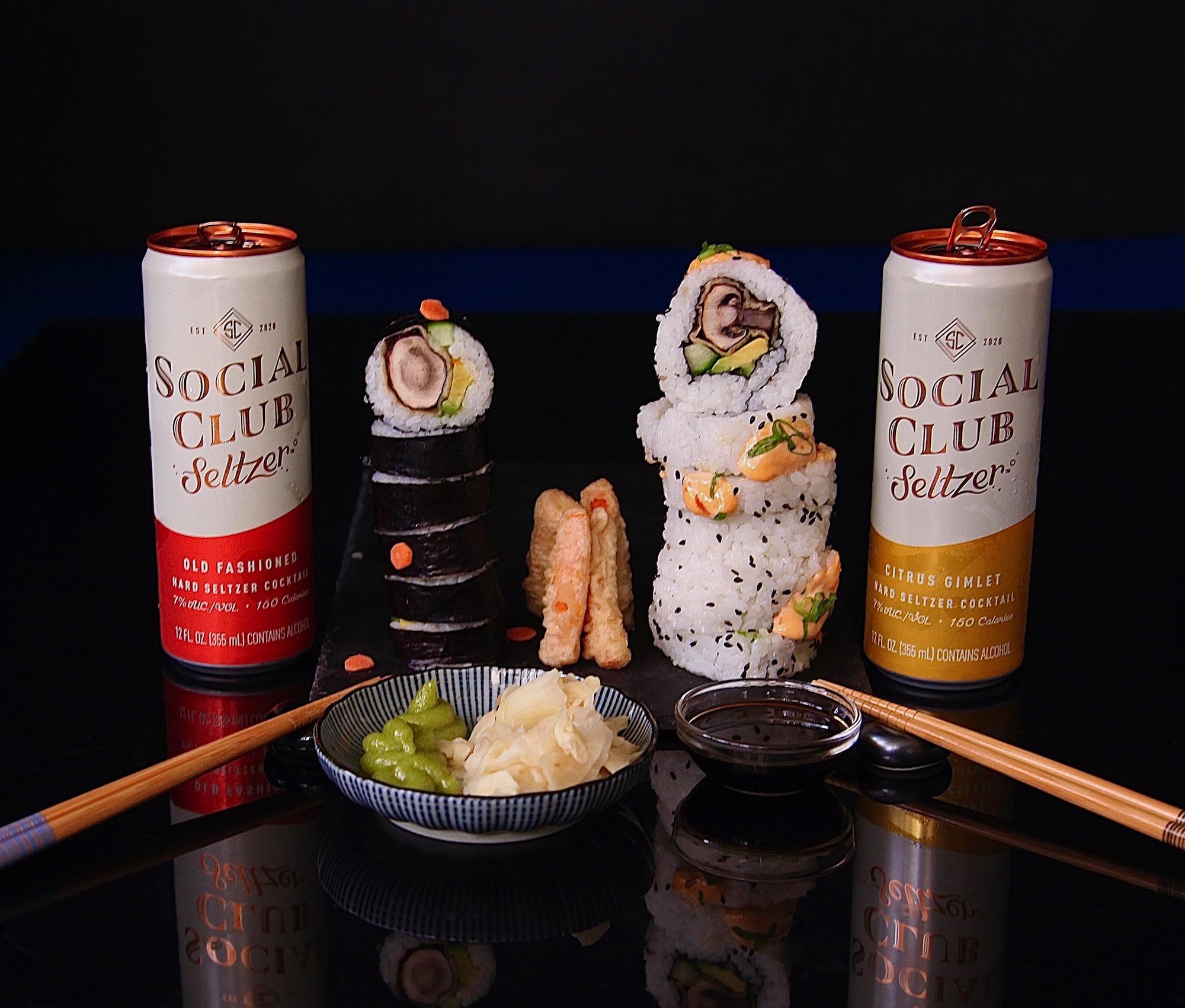 Mushroom Tempura Sushi #SocialClubRecipe