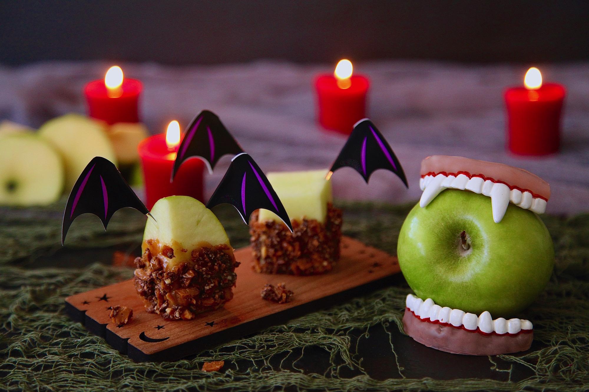 Caramel Toffee Apple Vampire Bites