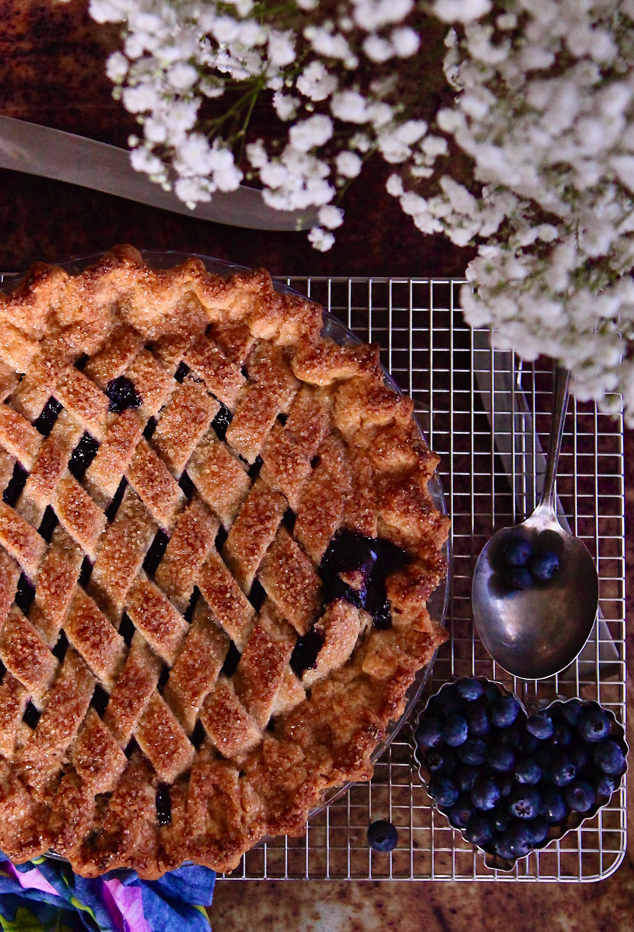 Homemade Buttery Crust Blueberry Pie