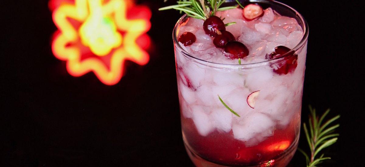 Cranberry Ginger Rosemary Sparkler