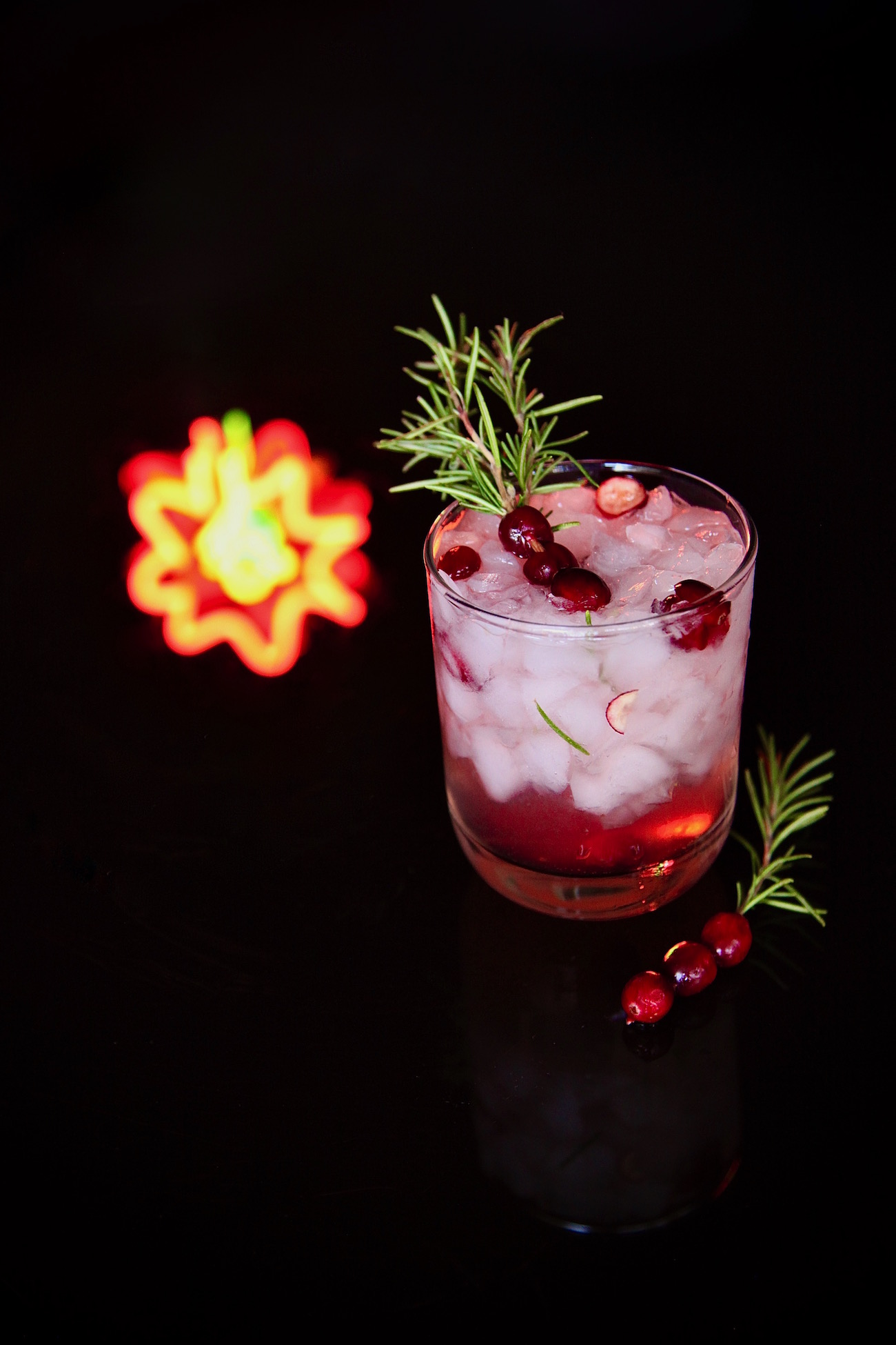 Cranberry Ginger Rosemary Sparkler