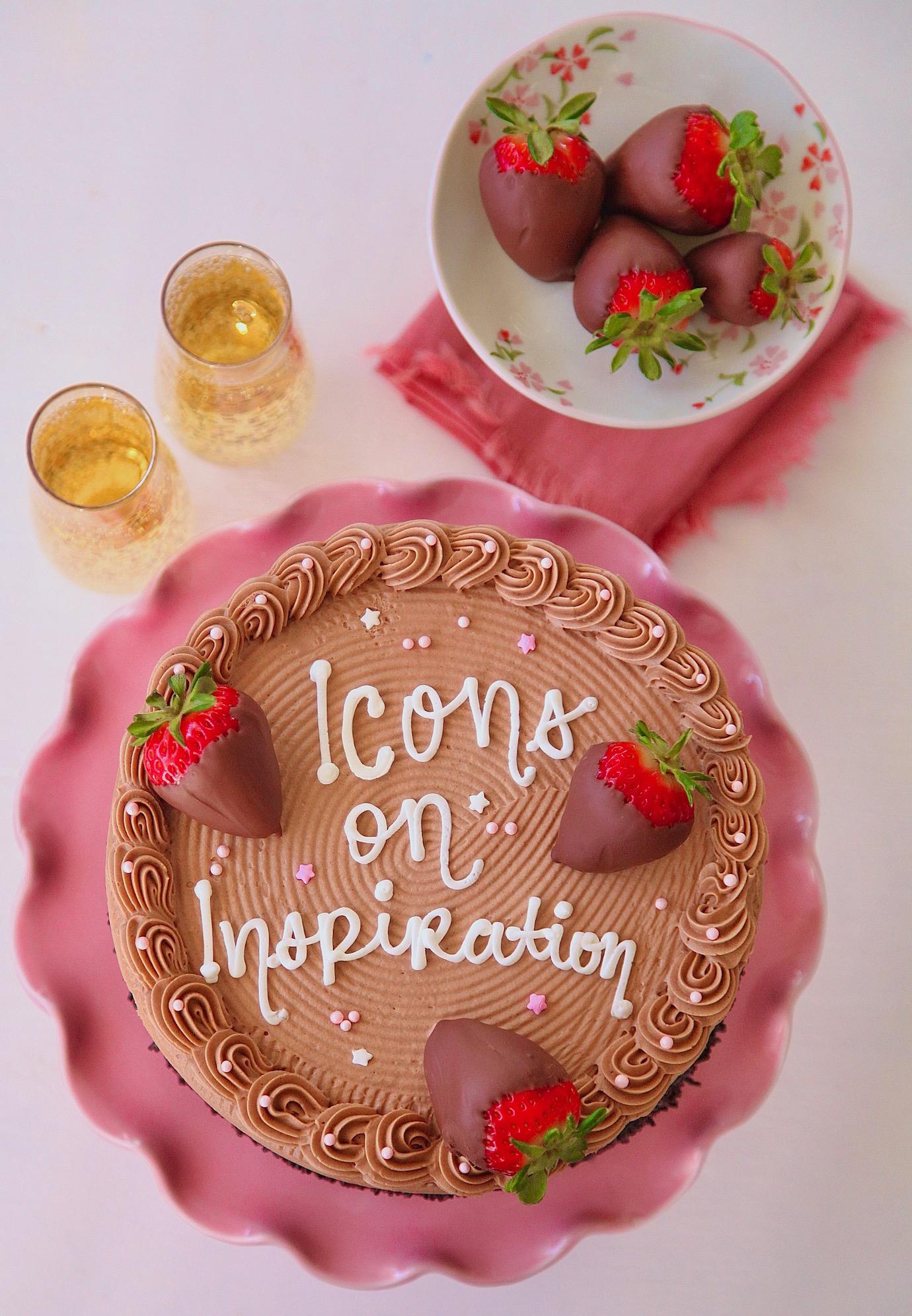 Icons On Inspiration Chocolate Cake