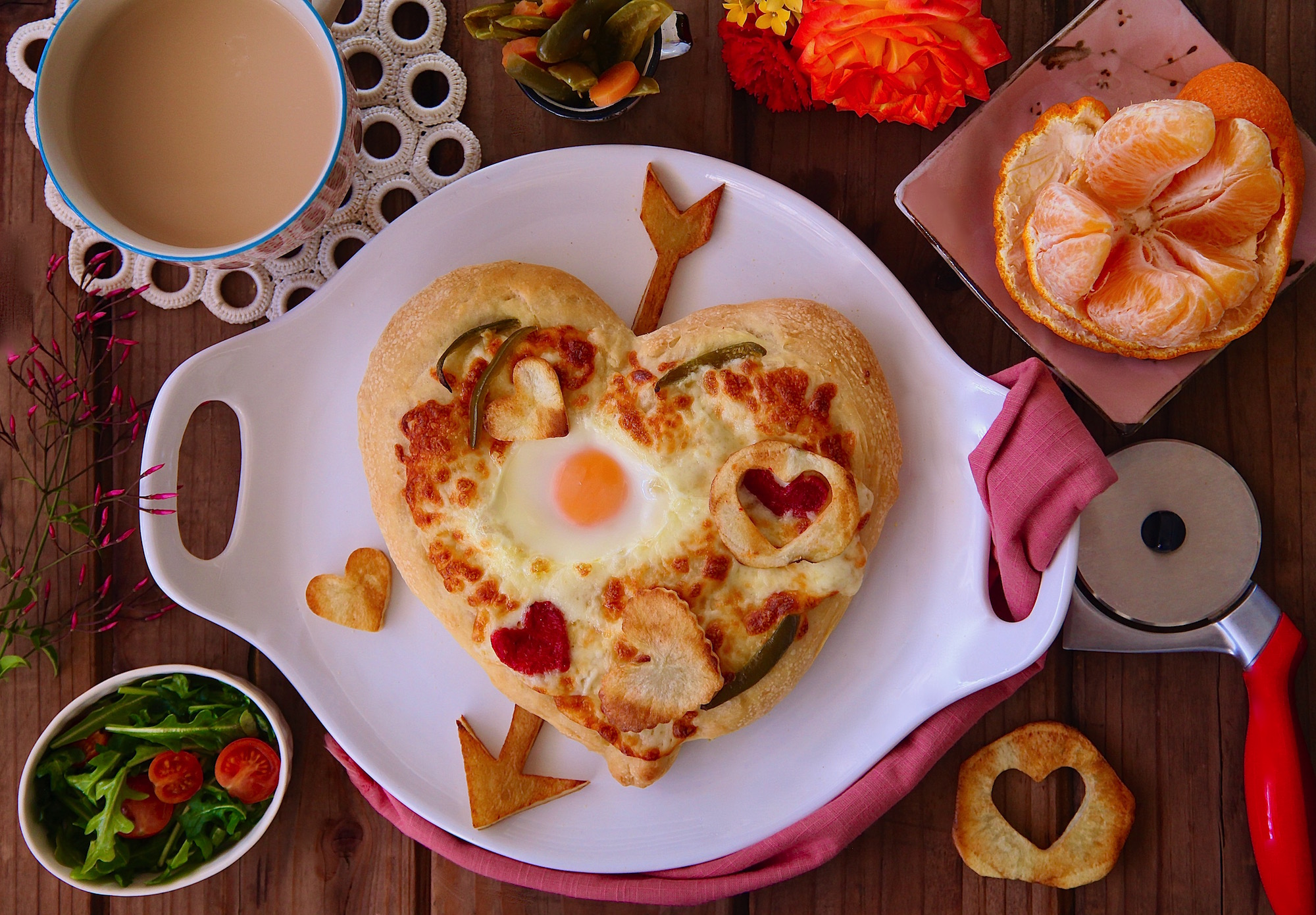 Cupid's Arrow Breakfast Pizza
