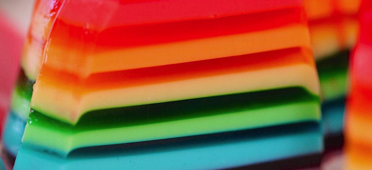 Rainbow Gelatina For Pride