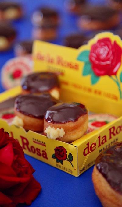 Mazapán Custard Filled Donuts in Chocolate Glaze