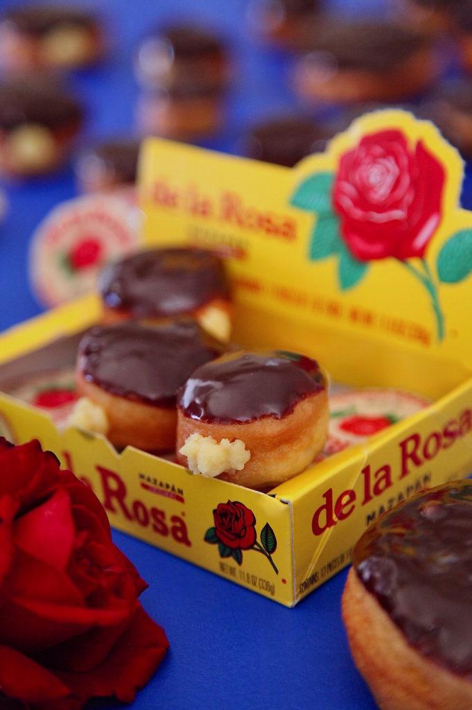 Mazapan-custard-Filled-donuts-with-chocolate-glaze
